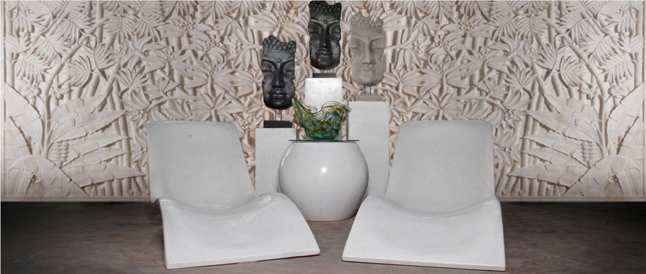 The best garden furniture products from Terrazzo and Concrete such as water fountains, pots, statues and bathtub; Sandstone statues and wall carving in Bali