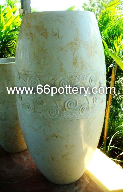 Round Terrazzo Pots RPT.0014a