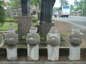 Concrete Garden Statues Set of 4